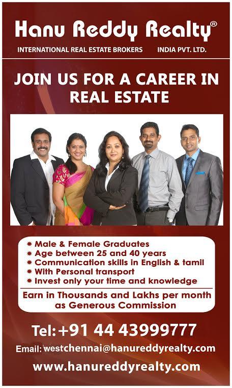 real estate careers jobs in real estate hanu reddy realty