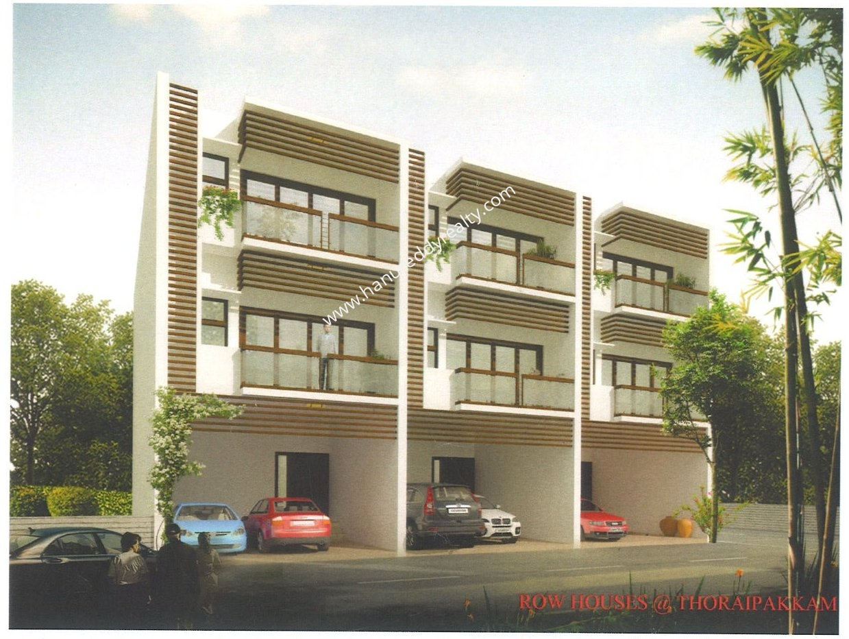 Row house for sale at thoraipakkam chennai hanu reddy realty for Row houses for sale